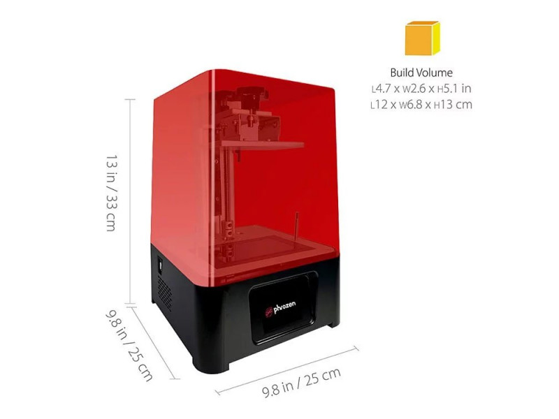 5.5 LCD Resin 3D Printer with easy-to-use interface PHROZEN Sonic Mini touch screen,Parallel UV LED and Metal Vat,Printing Volume L4.7 x W2.6 x H5.1 in