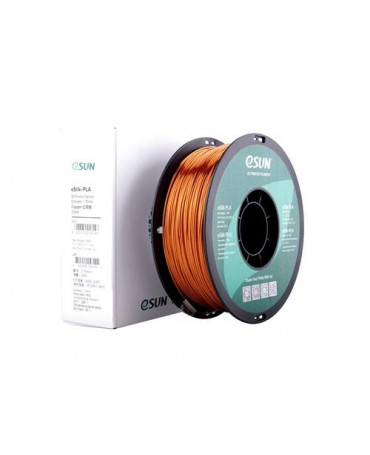 eSUN 3mm (2.85mm) Copper eSilk PLA filament - 1kg