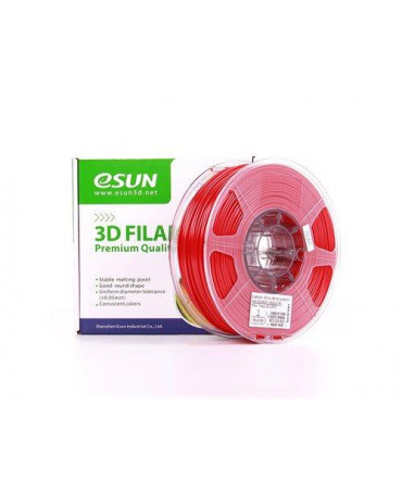 eSUN 3mm (2.85mm) Solid Red PETG filament - 1kg