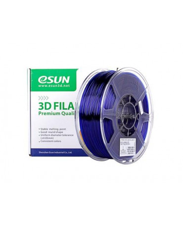 eSUN 3mm (2.85mm) Translucent Blue PETG filament - 3kg