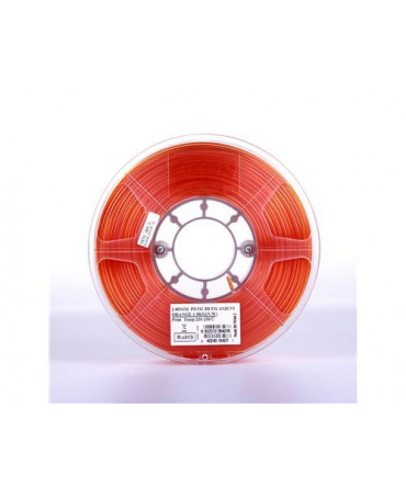 eSUN 1.75mm Translucent Orange PETG filament - 1kg