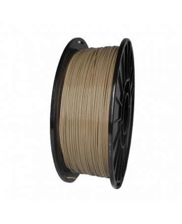 Push Plastic Flat Dark Earth PLA Filament Spool - 3 / 10 / 25 kg