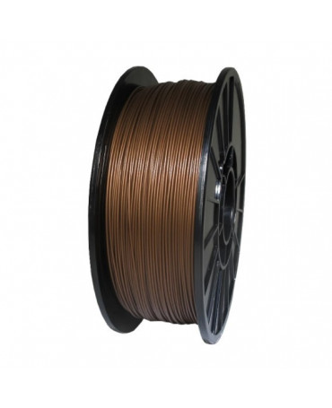 Push Plastic Bronze Metallic PLA Filament Spool - 3 / 10 / 25 kg