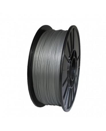 Push Plastic Silver Metallic PLA Filament Spool - 3 / 10 / 25 kg