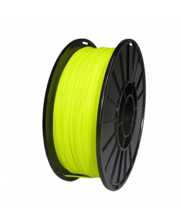 Push Plastic Fluorescent Yellow PLA Filament Spool - 3 / 10 / 25 kg