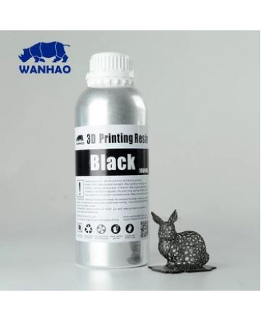 Wanhao 395-420nm Black Water-washable UV Resin - 250ml