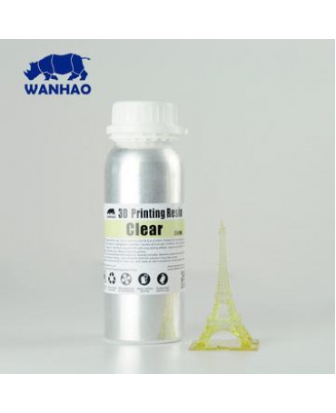 Wanhao 395-420nm Clear Water-washable UV Resin - 250ml