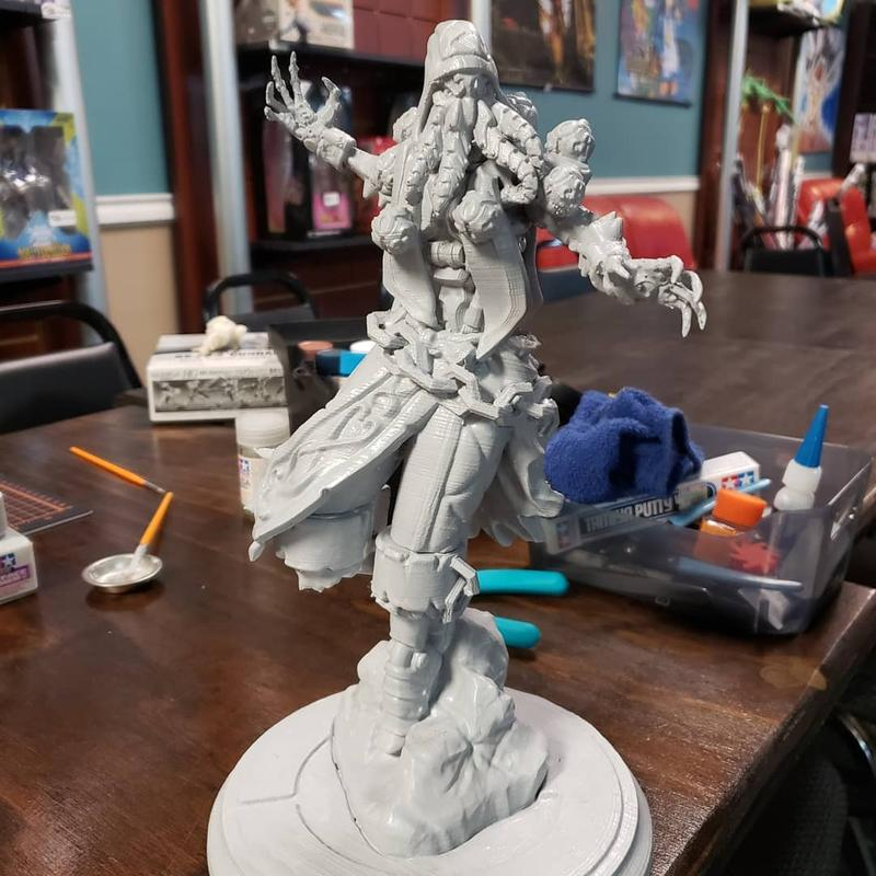 a Cthulhu Zenyatta figure. Rich in details, it shows a great print quality and high accuracy.
