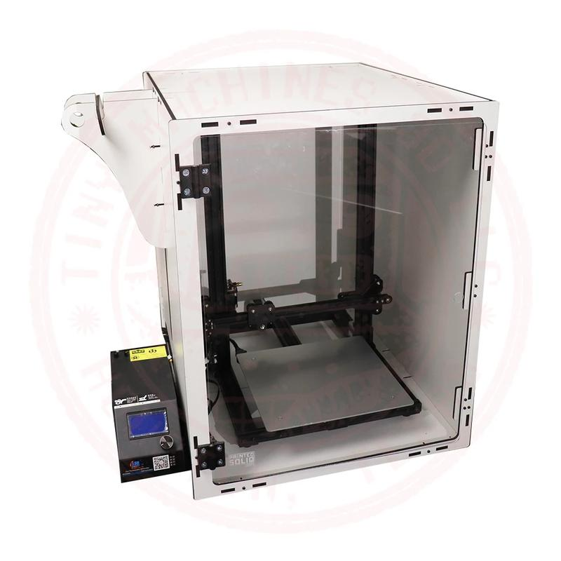 enclosed print chamber. This way the print quality would not be affected by temperature fluctuations as a result of drafts and other factors.