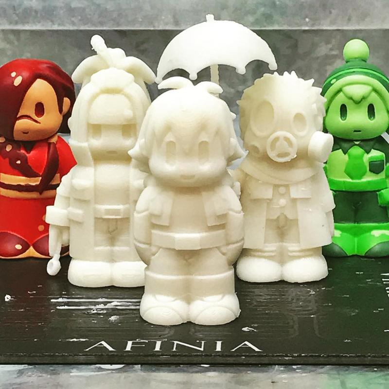 a set of characters from Dramatical Murder. They show enough details and precision considering the printer resolution.