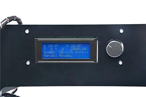 LCD screen with an integrated knob for easy operating the printer.