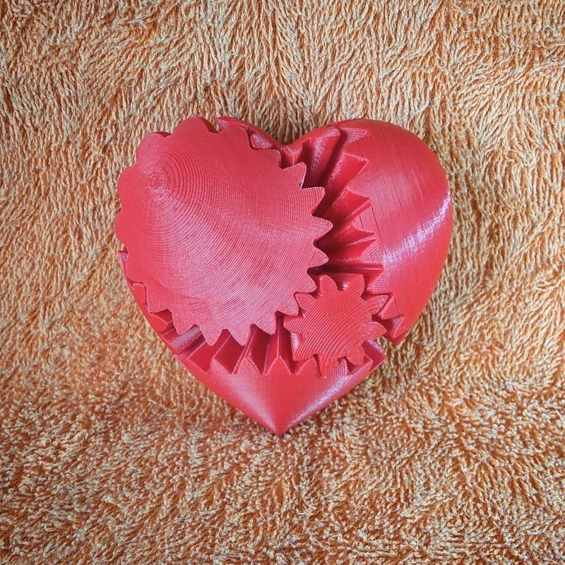 Here's an ABS example, a printed heart, better known in the community as screwless heart gears.