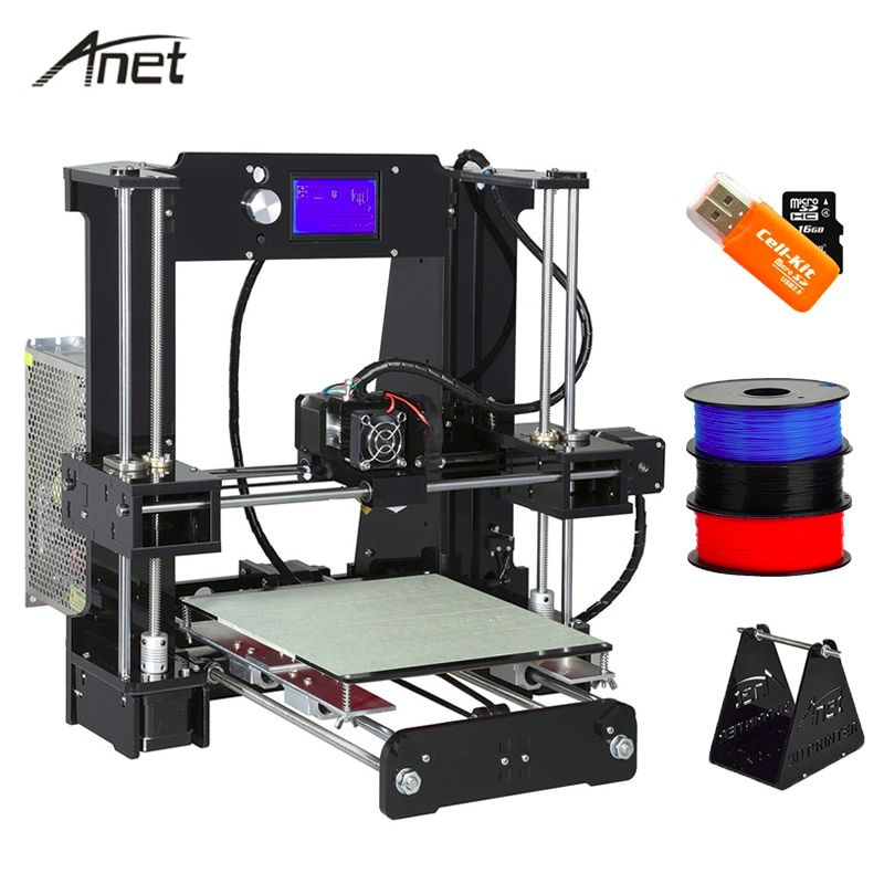 The Anet A6 prints with 1.75 mm filament, providing you with a wide choice of materials.