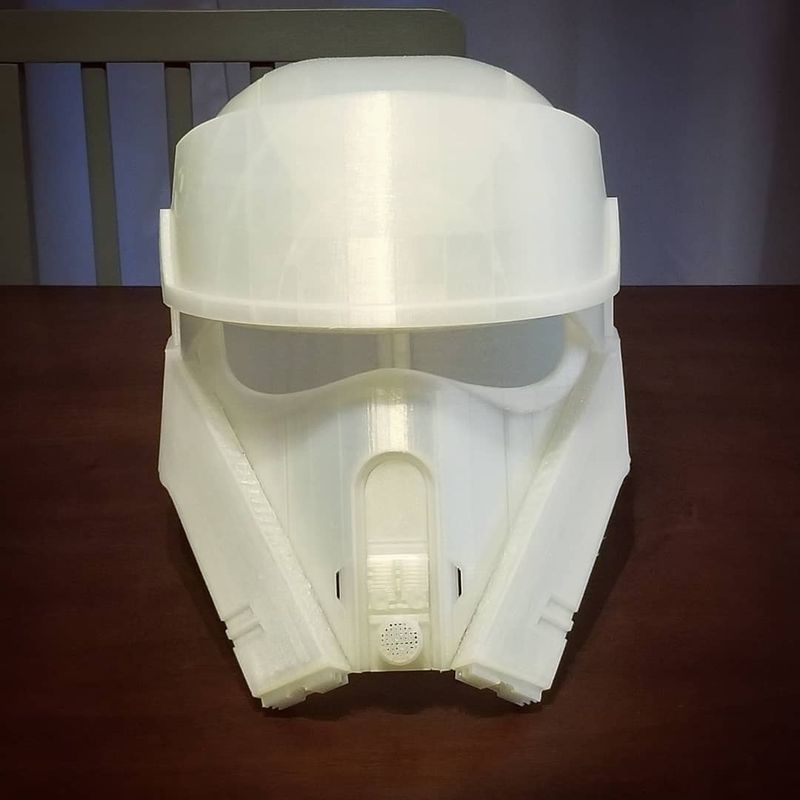 The Star Wars helmet. It took a long time to build, but it was worth it!
