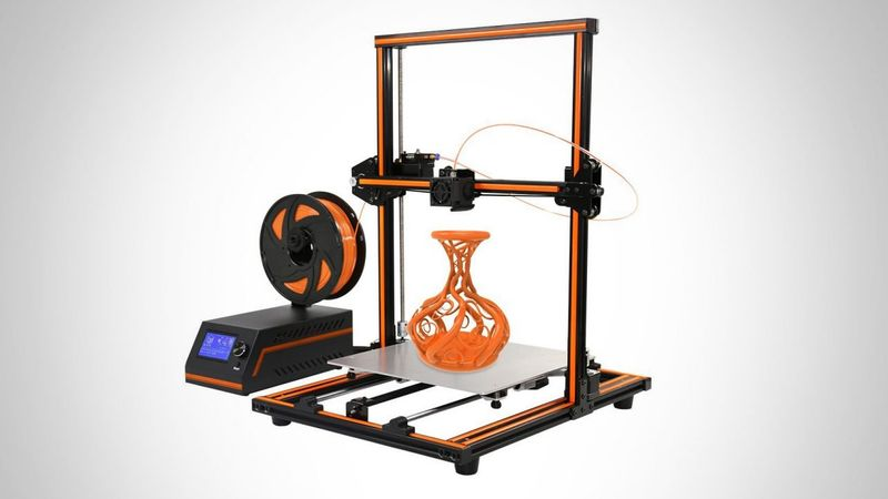 Anet E12 is available in orange and black color.