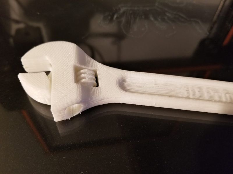 The same maker used Anet E12 to print an adjustable wrench.