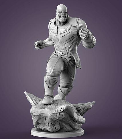 mini Thanos looks like. The printer delivered great accuracy and smoothness.