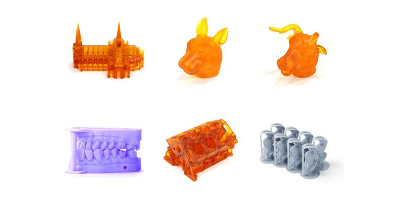 The build area of 4.7 x 2.6 x 5.4 inches (120 x 65 x 138 mm) lets you print a variety of accurate 3D models, from engines to cathedrals.