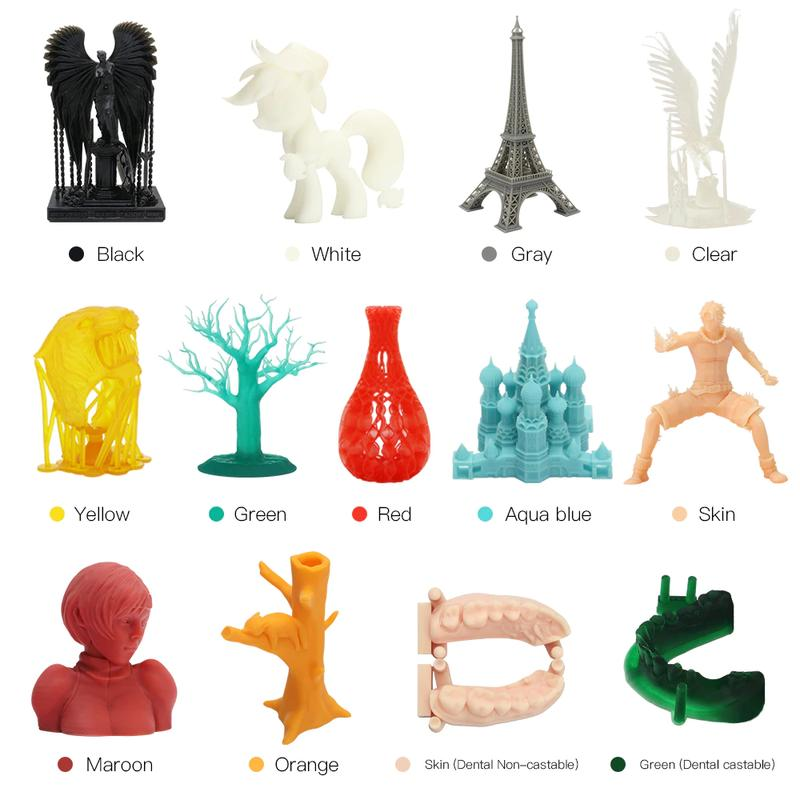 Anycubic Photon S prints with 405nm photosensitive resin and performs perfectly with a wide range of other materials.