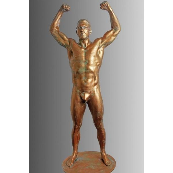 a metal model of man printed on the Builder Extreme 1500 PRO 3D printer