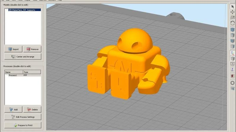 The printer comes bundled with Simplify3D slicing software.