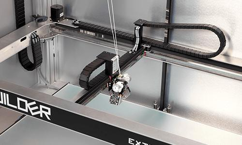 The aluminum body is solid and stable. The print head runs on rails, which makes printing fast and reliable.