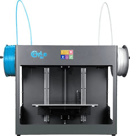 The Craftbot 3 prints with 1.75 mm filament, providing you with a wide choice of materials.
