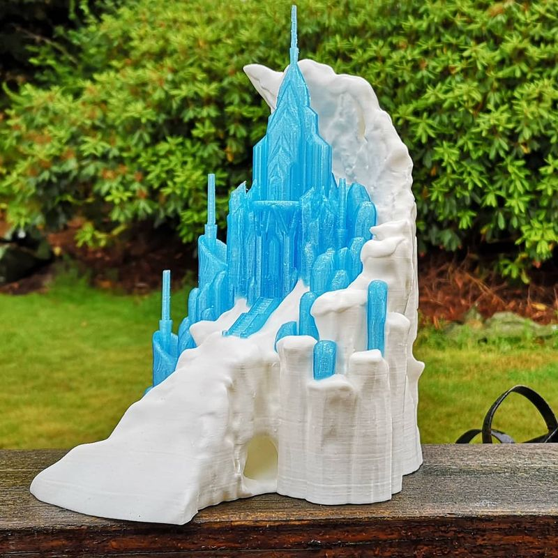 See this miniature Frozen Castle