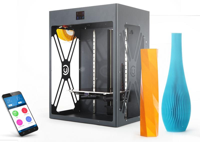 CraftBot XL 3D Printer with some models