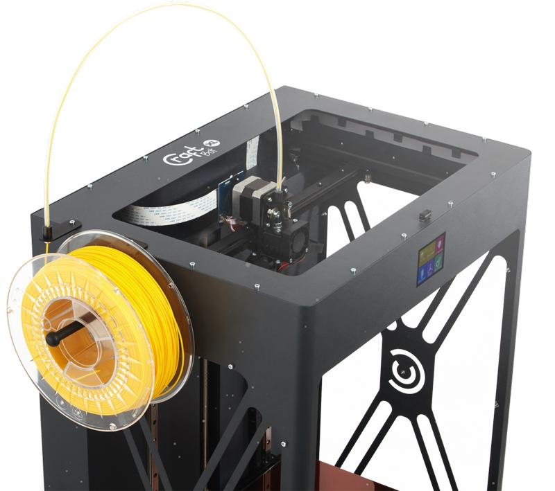 The CraftBot XL prints with 1.75 mm filament