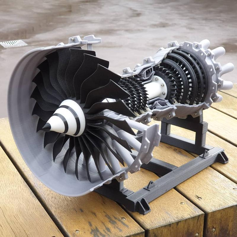 For instance, one user has successfully created a gas turbine. Look at its meticulous details and finishes. In case you're wondering, yes, it really works.
