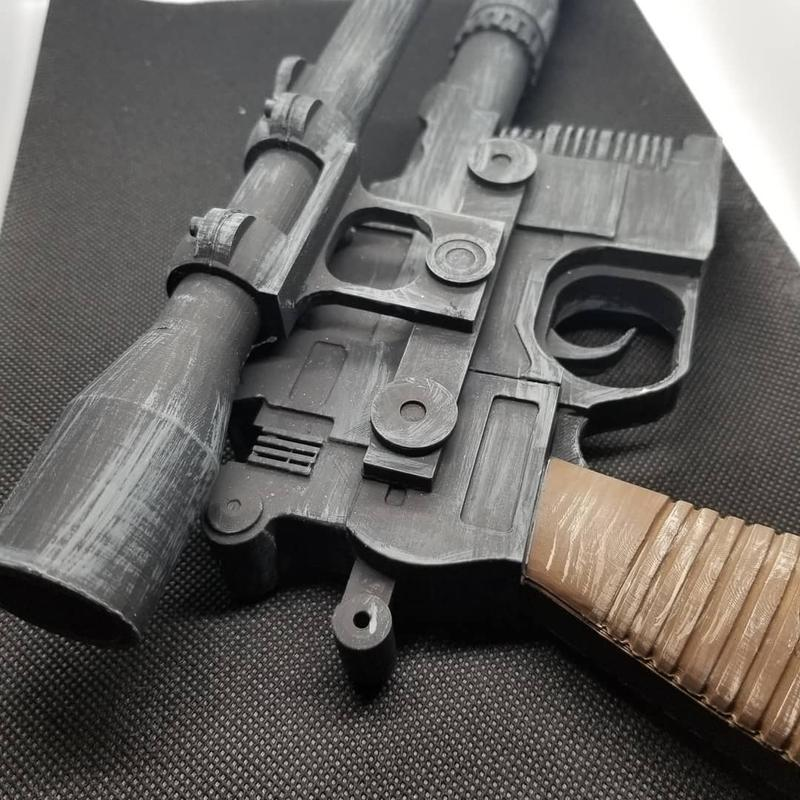 Enjoy this well-refined Han Solo Blaster created by a Star Wars fan. With such a galactic sidearm, you will always shoot first.