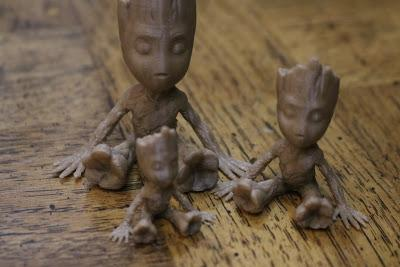 These ABS-made Groot models have been printed at a 2mm layer height