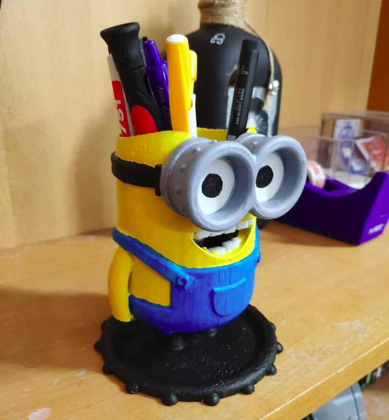 Here's an ABS-made Minion, it will be an exciting addition to kids' studying environment.