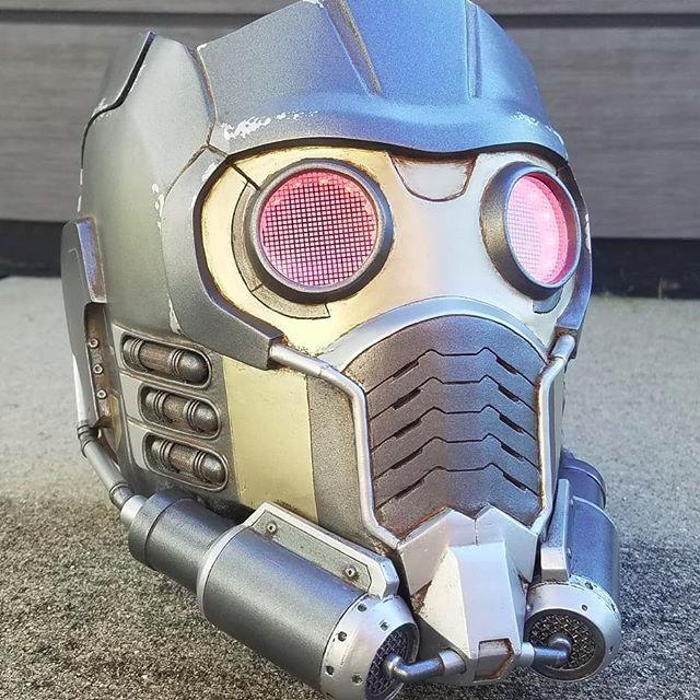Another user printed the Starlord helmet from the Guardians of the Galaxy. This is a movie quality job with thoughtful textures, color transitions and shapes.