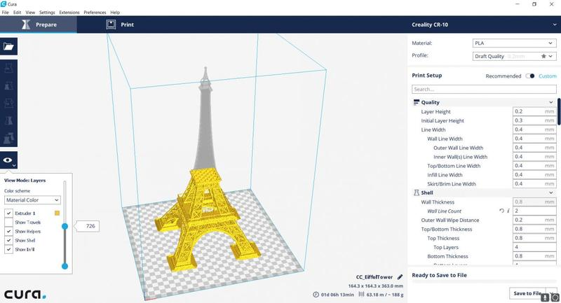 viewport cura program