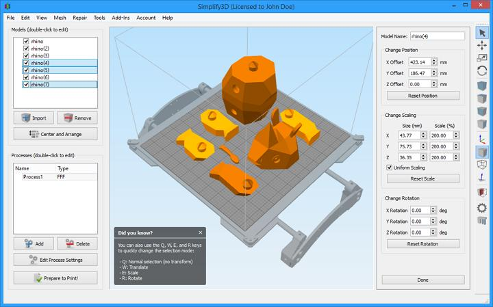 The Creality CR-7 is compatible with the majority of slicing software, such as Simplify3D, Cura, and Repetier-host
