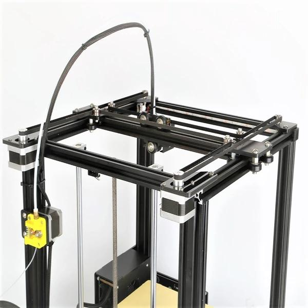 The print head runs on rails, which makes printing reliable, fast and precise.