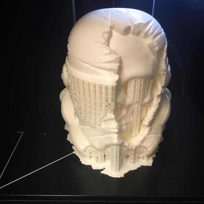 Here's a fresh 3D print of a Death Trooper made of PLA.