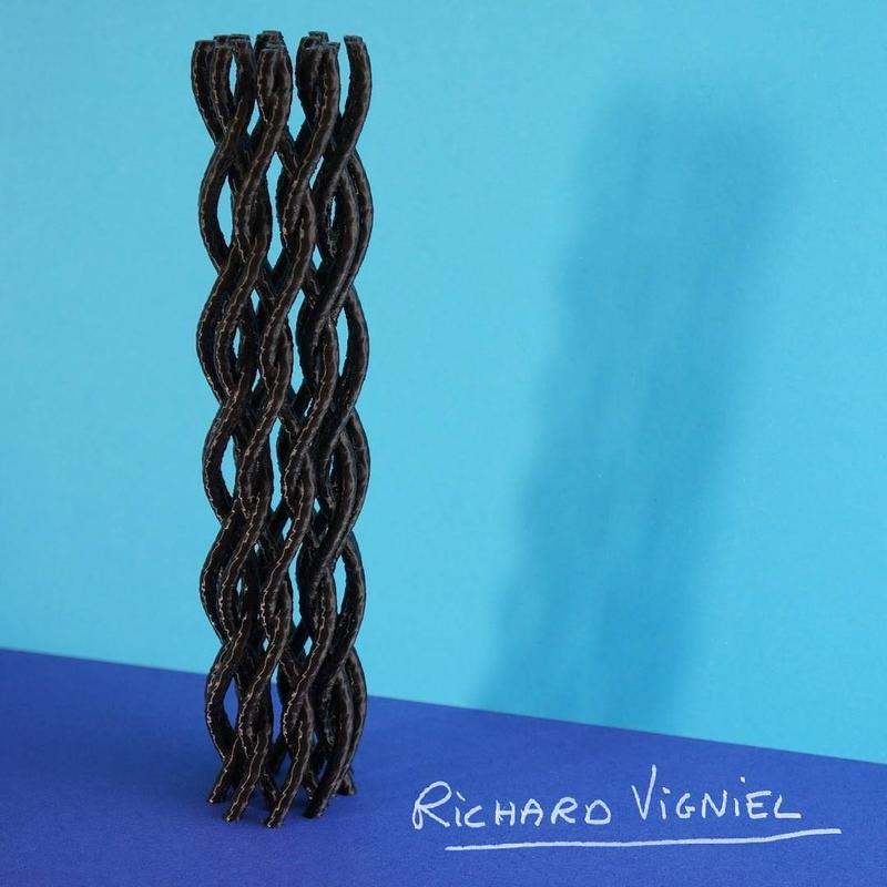 a personal algorithmic artwork. These Helicoid meshes are 20 cm tall.