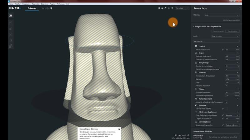 The printer comes with Cura software. It allows you to manage all the printing settings, such as filament type, infill percentage, and print quality, just to name a few.
