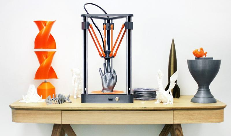 Dagoma Neva 3D Printer prints with PLA, Flexible PLA and other materials.