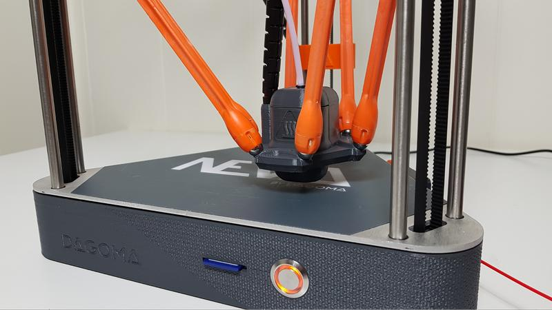 The Dagoma Neva 3D Printer has a 0.4 mm nozzle, giving you the best balance between speed and detail.