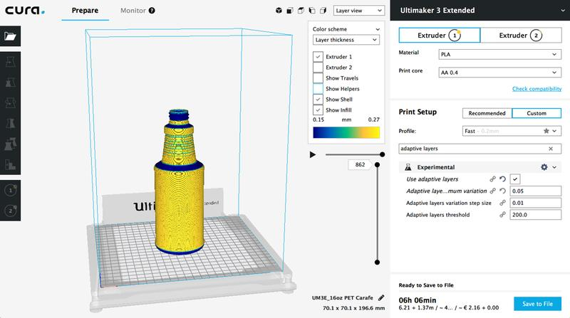 The printer includes a 1-year subscription to Autodesk 360. Also, it relies on Cura operating slicing software, which works with the most popular 3D model formats.