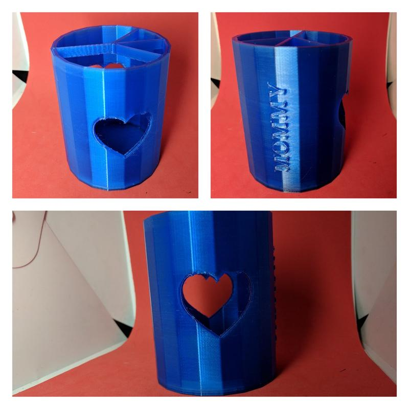 Delta WASP 2040 TURBO2 is a versatile 3D printer. It can be used in various fields. For example, one user 3D printed this custom vase for Mother's Day.