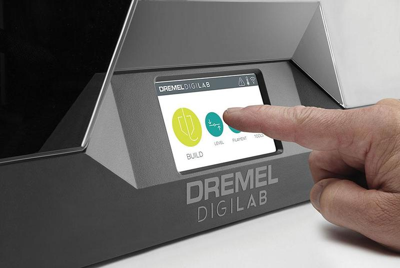 5-inch, full-color IPS touch screen of the Dremel 3D45