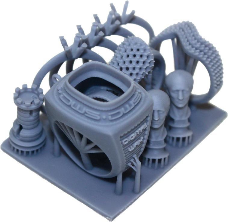the model printed on the DWS 009J 3D printer