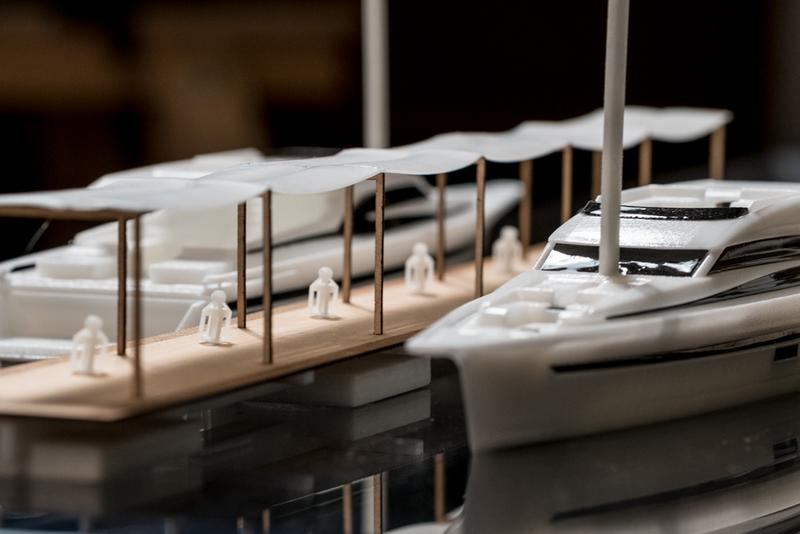 "Materia has used the DWS technology to create a scale model of ""Le Yacht Lodge"" made of Invicta 915 stereolithography resin"