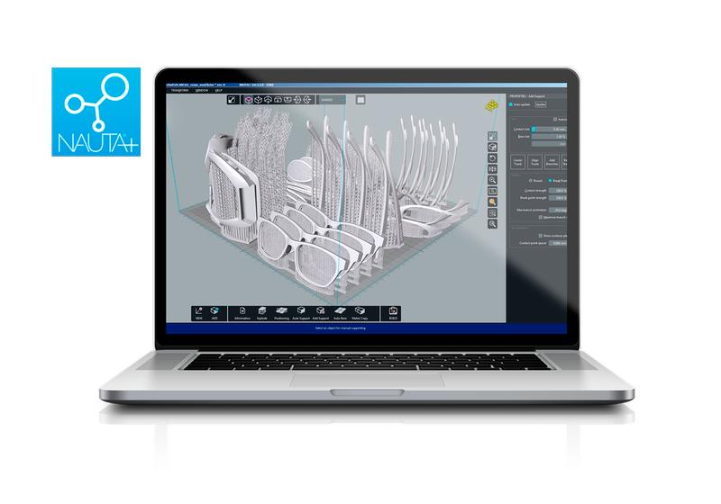 DWS provides two proprietary software for parametric editing and machine controller functions, NAUTA+ and Fictor XFAB Edition