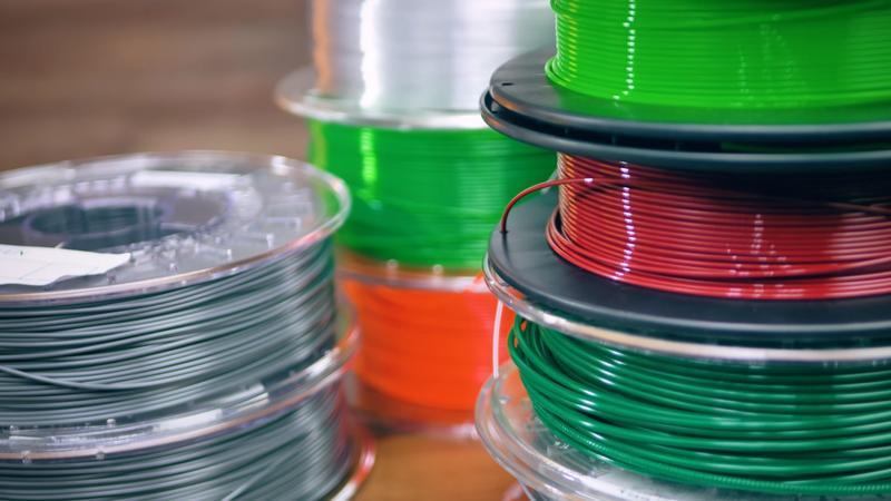 The FlashForge Adventurer 3 prints with 1.75 mm filament